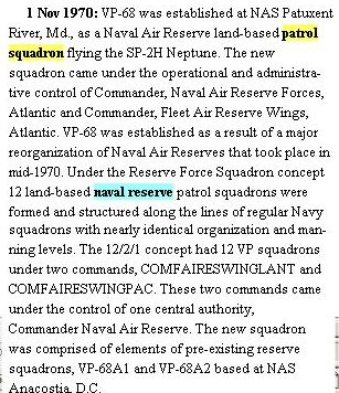 VP Reserve Squadrons